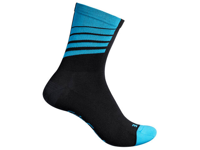 GripGrab Racing Stripes Calze, black/blue